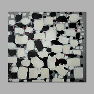 Hang malte oljemaleri Håndmalte - Abstrakt Kunstnerisk Lerret / Stretched Canvas