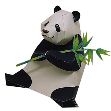Quebra-Cabeças 3D Maquetes de Papel Artesanato de Papel Brinquedos de Montar Urso Panda Animais Simulação Faça Você Mesmo Clássico