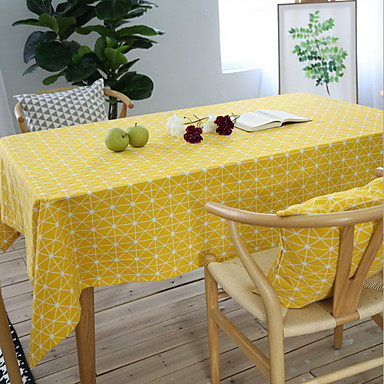 Cotton Blend Table cloths Printing Table Decorations 1 pcs