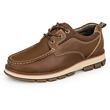 Herre sko Egte Lær Høst Vinter Komfort Lette såler Oxfords Snøring Til Avslappet Lysebrun Mørkebrun