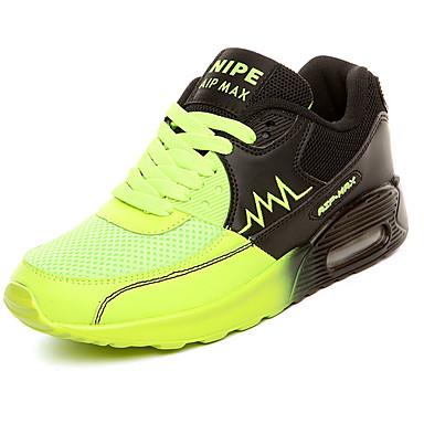 Mulheres Sapatos Couro Ecológico Primavera / Outono Conforto Tênis Sem Salto Laranja / Verde / Azul