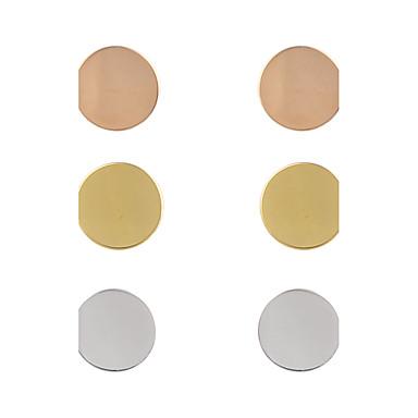 Homens Mulheres Brincos Curtos Jóias Luxo Original Boêmio lateralmente Ajustável Estilo simples Com Elasticidade Ligas de Ferro Forma