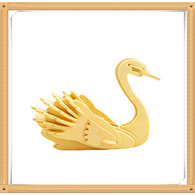 3D Puzzles Jigsaw Puzzle Wood Model Model Building Kit Swan 3D Animals DIY Wooden Wood Kid's Gift