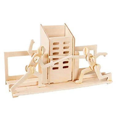 3D-puslespill Puslespill Tremodeller Luftkraft Kjent bygning Møbel Arkitektur 3D GDS Tre Klassisk Unisex Gave