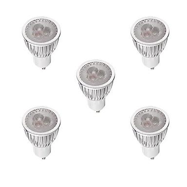 5pçs 3W 260-300lm GU10 Lâmpadas de Foco de LED MR16 3 Contas LED LED de Alta Potência Regulável Branco Quente / Branco 220-240V / 5 pçs