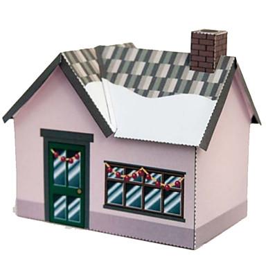 Quebra-Cabeças 3D Artesanato de Papel Casa Faça Você Mesmo Cartão de Papel Duro Desenho Crianças Unisexo Dom