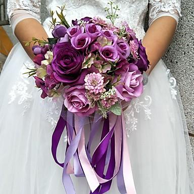 Wedding Flowers Bouquets Wedding Polyester 9.84