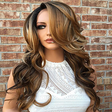 T1B/4/27 Chestnut Brown Human Hair Wigs Body Wave Soft Glueless Lace Front Wigs With Baby Hair For Balck Women Cheap On Sale