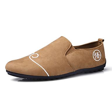 Homens sapatos Borracha Primavera Outono Mocassim Oxfords para Ao ar livre Branco Preto Laranja