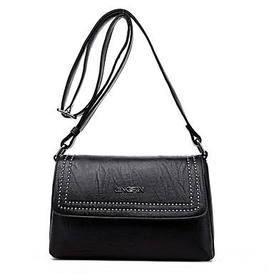 Women's Bags PU Crossbody Bag for Casual All Seasons Blue Black Purple Wine