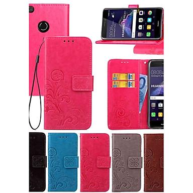 Capinha Para Huawei Honor 7 / Huawei P9 / Huawei P9 Lite Carteira / Porta-Cartão / Com Suporte Capa Proteção Completa Sólido Rígida PU Leather para P10 Plus / P10 Lite / P10 / Mate 9 Pro