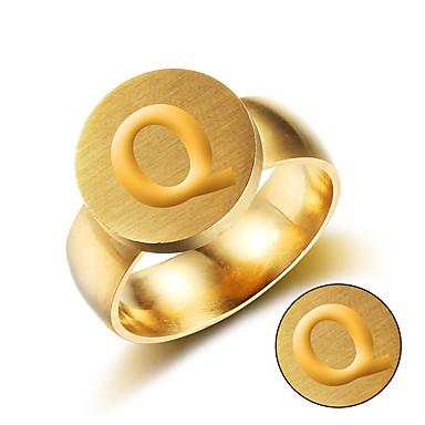 Személyre szabott ajándékot Gyűrűk Titanium Acél Férfi Egyszerű Geometrijski oblici Menő Európai