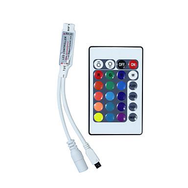 Hkv® mini 24 teclas rgb ir controle remoto rgb led controlador de faixa controlador pequeno rgb