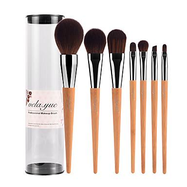 7pcs Concealer Brush Powder Brush Foundation Brush Makeup Brush Set Blush Brush Eyeshadow Brush Lip Brush Brow Brush Synthetic Hair Bamboo