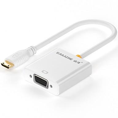 ZJX-100 2 HDMI Micro VGA Male - Male 0.2m (0.65Ft)
