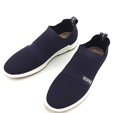 Men's Loafers & Slip-Ons Comfort Spring Fall Fabric Walking Shoes Casual Outdoor Flat Heel Black Blue 1in-1 3/4in