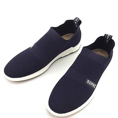 Homens sapatos Tecido Primavera Outono Conforto Mocassins e Slip-Ons Caminhada para Casual Ao ar livre Preto Azul