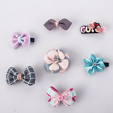 Cat Dog Hair Accessories Christmas Dog Clothes Bowknot Rainbow Plastic Cotton Costume For Pets Party Casual / Daily Cosplay Wedding New