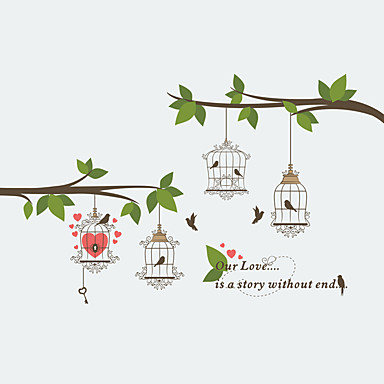 Decorative Wall Stickers - Plane Wall Stickers Animals / Fashion / Botanical Living Room / Bedroom / Bathroom