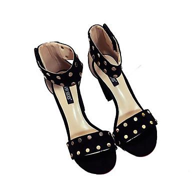 Naiset Sandaalit Comfort Kevät Nukkainen Kausaliteetti Musta Pinkki Tasapohja