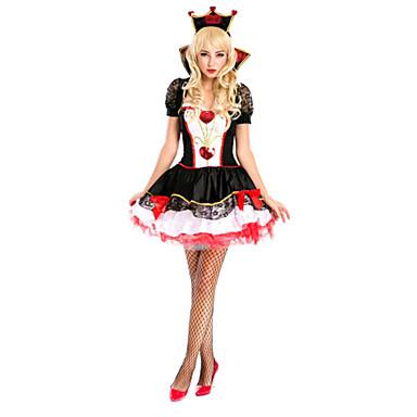 Cosplay Kostýmy Kostým na Večírek Královna Pohádkové Festival/Svátek Halloweenské kostýmy Patchwork Kabát Šaty T-Back Doplňky do vlasů