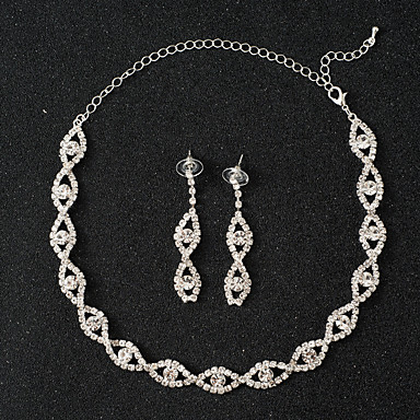 Women's Crystal Single Strand Jewelry Set - Unique Design, Classic, Tassel, Simple Style Include Silver For Wedding Party Special Occasion Anniversary Birthday Party / Evening