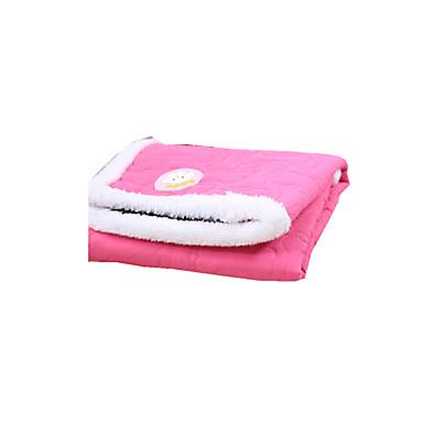 Gato Cachorro Camas Animais de Estimação Mantas Sólido Manter Quente Dobrável Macio Laranja Rosa