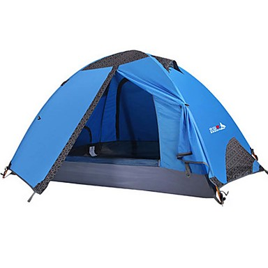 BSwolf 2 person Tent Double Layered Camping Tent Outdoor Waterproof, Rain-Proof, Dust Proof for Camping / Hiking >3000 mm Terylene, Aluminium