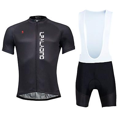 KEIYUEM 남성용 짧은 소매 싸이클 빕 반바지 져지 - 블랙 그레이 블루 자전거 패드 반바지 턱받이 스타킹 사이클링 스타킹 져지 의류 세트, 방수, 3D 패드
