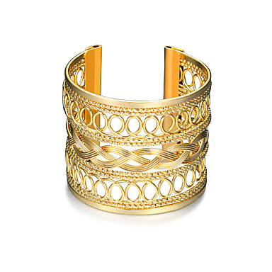 Women's Hollow Cuff Bracelet / Wide Bangle - Punk, Fashion Bracelet Gold For Christmas Gifts / Birthday / Gift