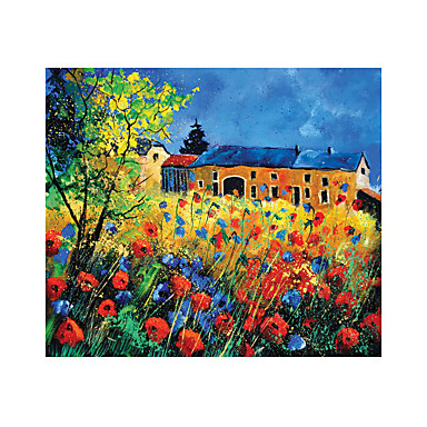 Jigsaw Puzzle Others Castle Famous buildings House Flower Wooden Wood Unisex Gift