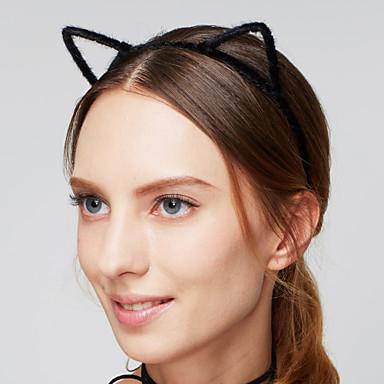 Dame Pandebånd / Vintage / Sød Stil Hårbånd - Akryl / Stof Pels, Cat Ears