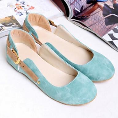 Naiset Kengät Kangas Kesä Comfort Bootsit varten Kausaliteetti Sininen