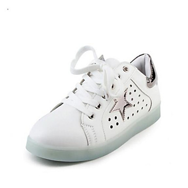 Women's Sneakers Comfort Summer PU Casual Gray Black/White White/Green Flat
