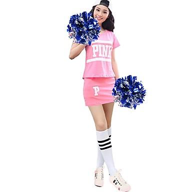 Cheerleader-asut Asusteet Naisten Suoritus Polyesteri 2 osainen Lyhyt hiha Korkea Hameet Topit