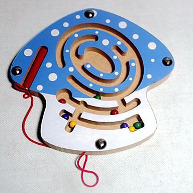 Labirinto Labirintos Magnéticos Jogos Pai e Filhos Brinquedos Avião Cogumelo Magnética Madeira Crianças Dom 1pcs