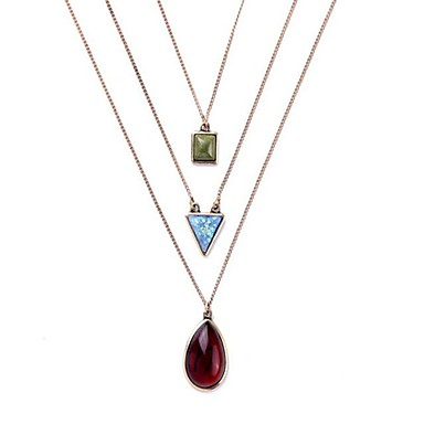 Women's Pendant Necklaces Geometric Alloy Basic Fashion Vintage Personalized Jewelry For Gift Daily Casual Stage Street