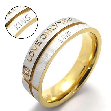 Személyre szabott ajándékot Gyűrűk Titanium Acél Páros Természet által inspirált pár cipő Esküvő