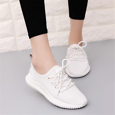 Women's Shoes Breathable Mesh Canvas PU Spring Comfort Sneakers For Casual White Black