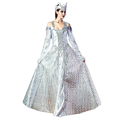 Queen Cosplay Cosplay Costumes Party Costume Female Festival / Holiday Halloween Costumes silvery white Vintage