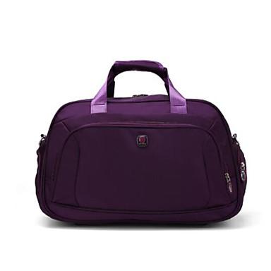 Unisex Travel Bag PU Oxford Cloth Polyester All Seasons Casual Outdoor Rectangle Zipper Black Fuchsia Amethyst