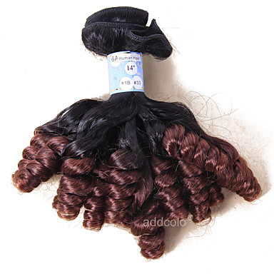 Peruvian Hair Curly Curly Weave Human Hair Weaves 1 Piece Ombre Hair Weaves