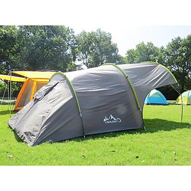 3-4 personer Trucktelt Telt Enkelt camping Tent Utendørs Brette Telt Regn-sikker Støvtett til Camping & Fjellvandring 2000-3000 mm PU-lær