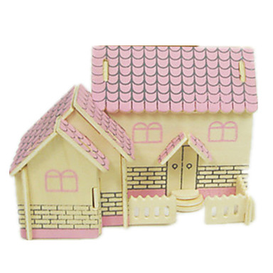 3D Puzzle Jigsaw Puzzle Model Building Kit Famous buildings House DIY Simulation Wooden Classic Unisex Boys' Girls' Toy Gift