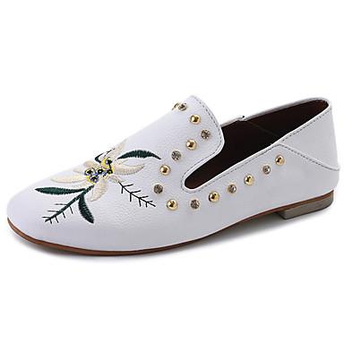 Women's Flats Light Soles Spring Summer Fabric Walking Shoes Casual Dress Stitching Lace Flat Heel White Black Flat