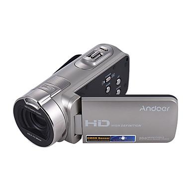 Andoer® hdv-312p 1080p full hd câmera de vídeo digital portátil de uso doméstico dv com 2,7 polegadas rotativo lcd tela máxima