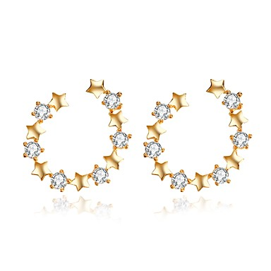 Women's Stud Earrings Classic Fashion Alloy Geometric Jewelry Gold Wedding Party Engagement Gift Ceremony Evening Party Costume Jewelry