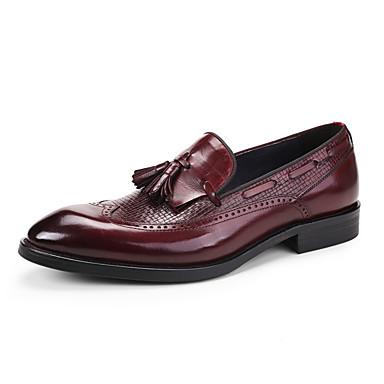 Homme Chaussures Formal Cuir Printemps / Automne Chaussures de mariage Noir / Rouge Bordeaux / Mariage / Soirée & Evénement / Soirée & Evénement / Chaussures habillées
