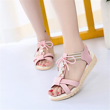 Women's Shoes PU Spring Comfort Sandals For Casual White Blushing Pink