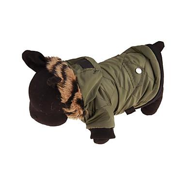 Cachorro Casacos Camisola com Capuz Roupas para Cães Respirável Casual Sólido Ocasiões Especiais Para animais de estimação
